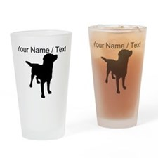 Custom Dog Silhouette Drinking Glass