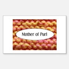 Knit - Mother of Purl Rectangle Decal
