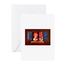 Cute Little Girl Knitting Greeting Cards (Pk of 10