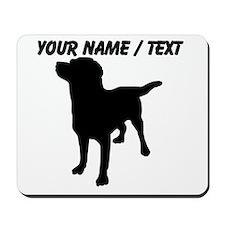Custom Dog Silhouette Mousepad