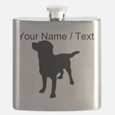 Custom Dog Silhouette Flask