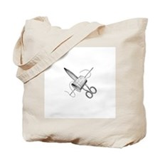Vintage Sewing Notions Tote Bag
