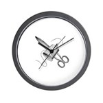 Vintage Sewing Notions Wall Clock