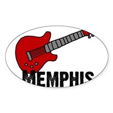 Guitar - Memphis Oval Decal