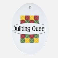 Quilting Queen Oval Ornament