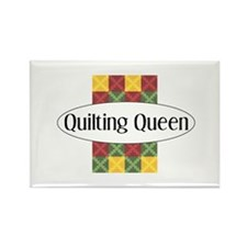 Quilting Queen Rectangle Magnet