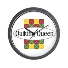 Quilting Queen Wall Clock