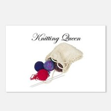 Knitting Queen Postcards (Package of 8)