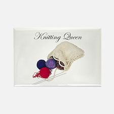 Knitting Queen Rectangle Magnet