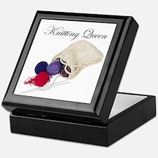 Knitting Queen Keepsake Box