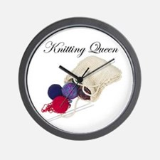 Knitting Queen Wall Clock