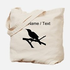 Custom Mockingbird Silhouette Tote Bag