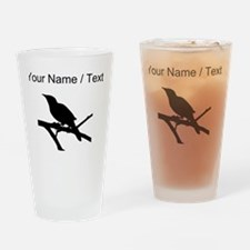 Custom Mockingbird Silhouette Drinking Glass