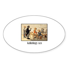 Knitology 101 Oval Decal