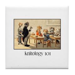 Knitology 101 Tile Coaster