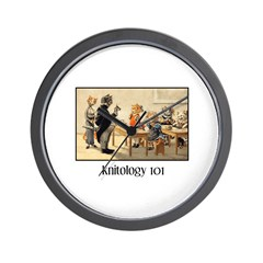 Knitology 101 Wall Clock
