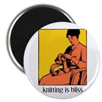 Knitting is Bliss Magnet