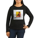 Knitting is Bliss Women's Long Sleeve Dark T-Shirt