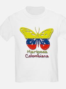 Mariposa Colombiana Kids T-Shirt