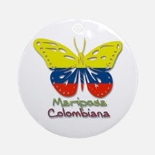 Mariposa Colombiana Ornament (Round)