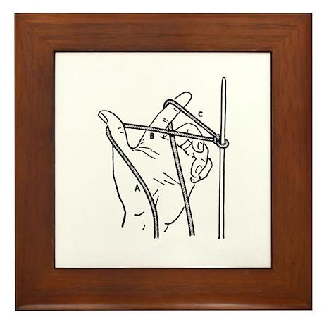 Knitting Diagram Framed Tile