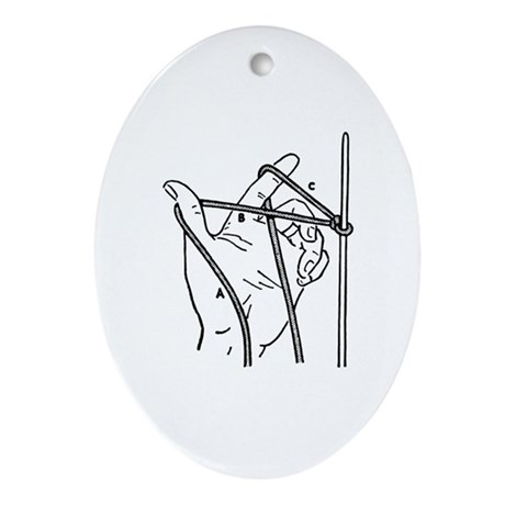 Knitting Diagram Oval Ornament