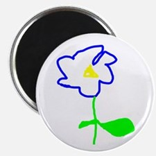 Blue Flower Magnet
