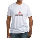 Rubber Stamp Queen Fitted T-Shirt