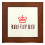 Rubber Stamp Queen Framed Tile