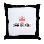 Rubber Stamp Queen Throw Pillow