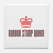 Rubber Stamp Queen Tile Coaster