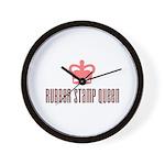 Rubber Stamp Queen Wall Clock