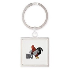 Big Rooster Innuendo Square Keychain