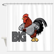 Big Rooster Innuendo Shower Curtain