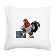 Big Rooster Innuendo Square Canvas Pillow