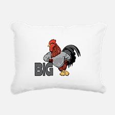 Big Rooster Innuendo Rectangular Canvas Pillow