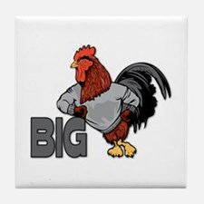 Big Rooster Innuendo Tile Coaster