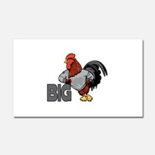 Big Rooster Innuendo Car Magnet 20 x 12