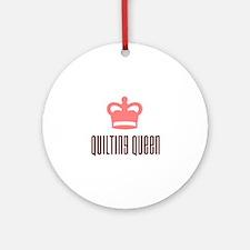 Quilting Queen Ornament (Round)