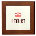 Knitting Queen Framed Tile