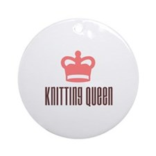 Knitting Queen Ornament (Round)