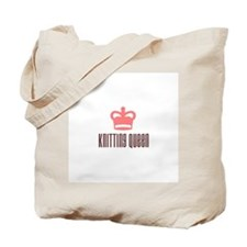 Knitting Queen Tote Bag