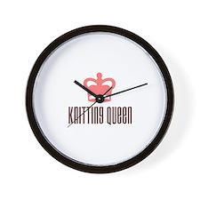 Knitting Queen Wall Clock
