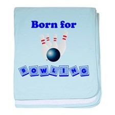 Born For Bowling baby blanket