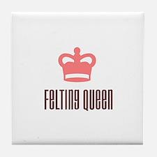 Felting Queen Tile Coaster
