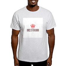 Cross Stitch Queen Ash Grey T-Shirt