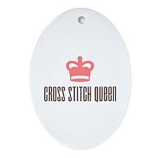 Cross Stitch Queen Oval Ornament