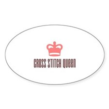 Cross Stitch Queen Oval Decal