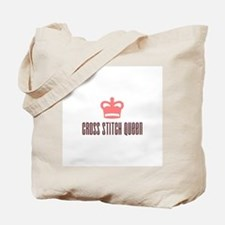 Cross Stitch Queen Tote Bag
