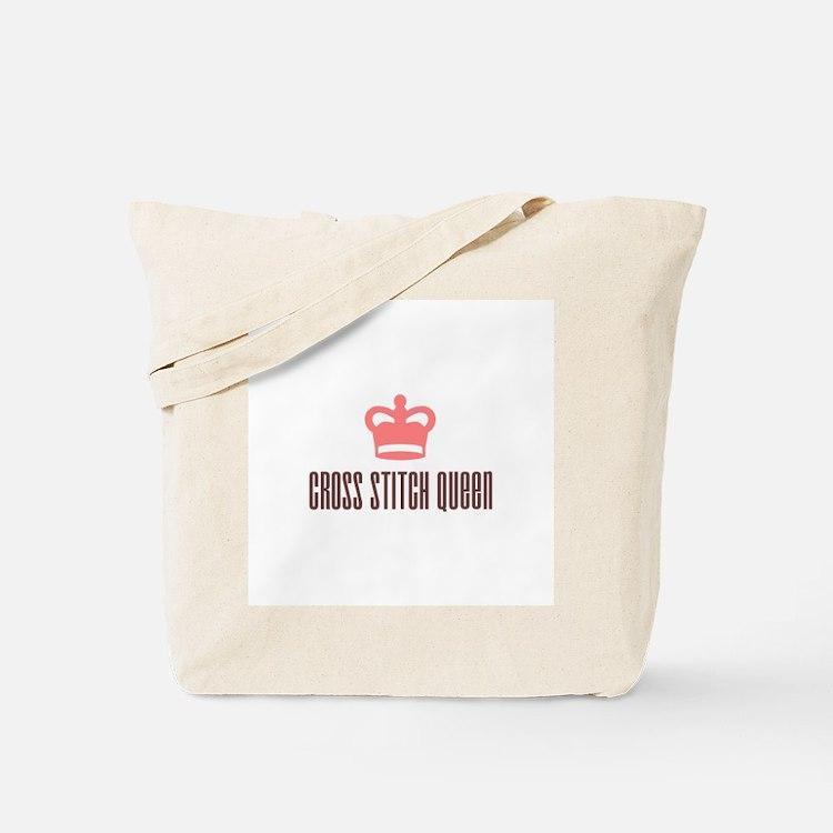 Cross Stitch Queen Tote Bag